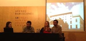 Acte celebrat el 28 de gener del 2013, a la Sala Verdaguer de l'Ateneu Barcelonès